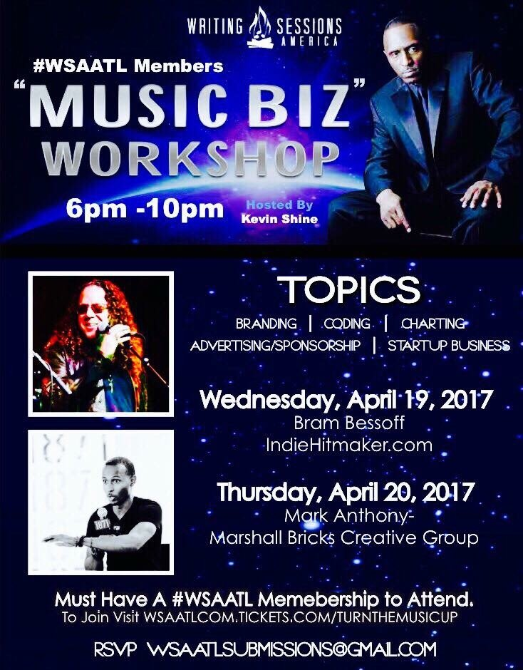 "WSAATL ""Music Biz"" Workshop April 19, 2017"