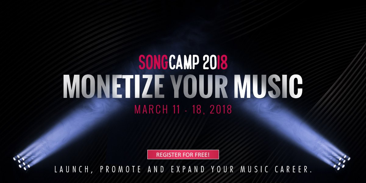 Attend SongCamp 2018 March 11-18 Free